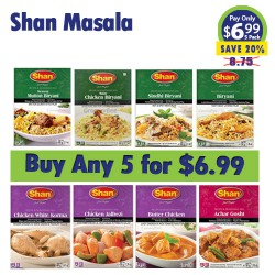 Buy Any 5 Shan Masala for 6.99