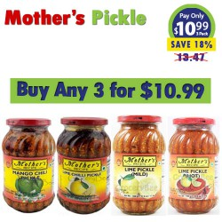 Buy any 3 Mother's Pickles for $10.99