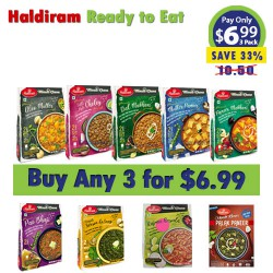 Buy Any 3 Haldirams 300g Ready to Eat for $6.99