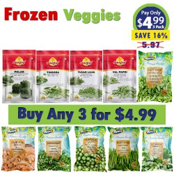 Buy Any 3 Frozen Vegetable for $4.99