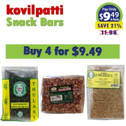 Buy any four kovilpatti snack bars for Just $9.49