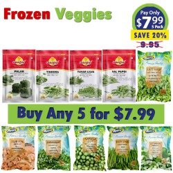 Buy Any 5 Frozen Vegetable for $7.99