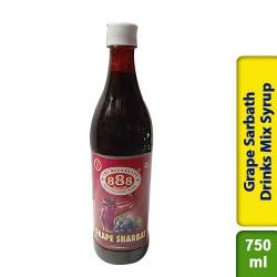 888 Grape Sarbath Sharbat Drinks Mix Syrup 750ml