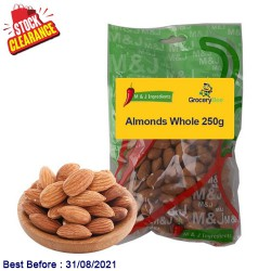 Almonds Whole 250g Clearance Sale