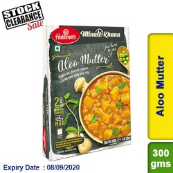 Aloo Mutter (Mattar Matar) Haldirams 300g Ready to Eat Clearance Sale