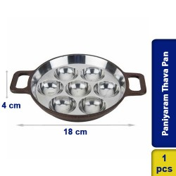 Aluminium Premium Harmmertone Paniyaram Thava Pan 7 pits