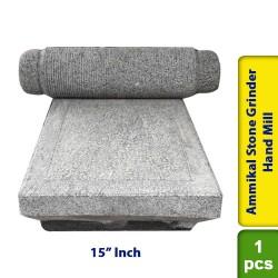 Ammikal Stone Grinder Sil Batta Stone Flour Hand Mill 15 Inch - Minor Damage