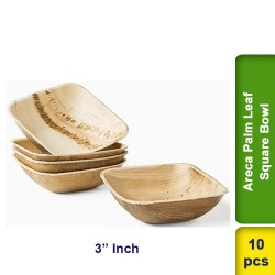 Areca Palm Leaf 3 Inch Square Bowl 10pcs