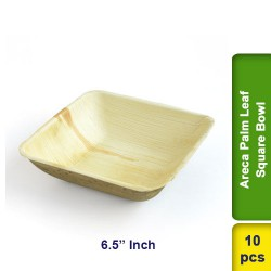 Areca Palm Leaf 6,5 Inch Square Bowl 10pcs