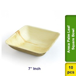 Areca Palm Leaf 7 Inch Square Bowl 10pcs