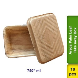 Areca Palm Leaf Take away box 750ml 10pcs