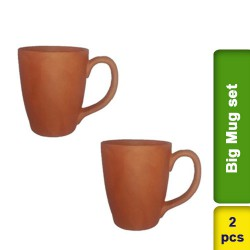 Big Mug Set 2 pcs Earthen Clay