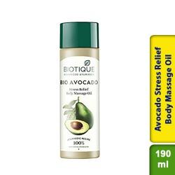 Biotique Bio Cado Avocado Stress Relief Body Massage Oil 190ml