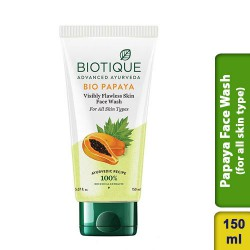 Biotique Bio Papaya Visibly Flawless Skin Face Wash for All Skin Types 150ml