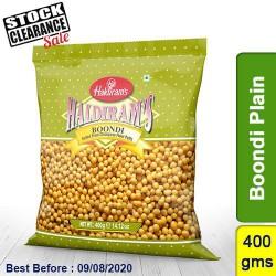 Boondi Plain Haldirams 400g Clearance Sale
