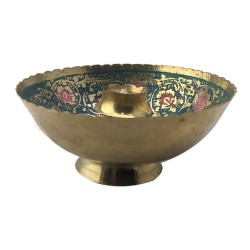 Brass Agarbathi Incense Stick Stand Blue Floral Design