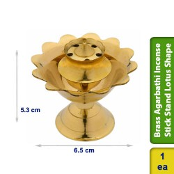 Brass Agarbathi Incense Stick Stand Lotus Shape