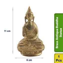 Brass Antique Buddha Statue figurine BS118