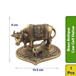 Brass Antique Cow Calf Statue BS126