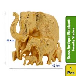 Brass Antique Elephant Family Statue figurine Big Vintage BS105