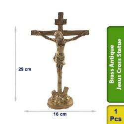 Brass Antique Jesus Cross Statue BS128