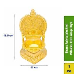 Brass Ashtalakshmi Vilakku Oil Lamp Diya Small