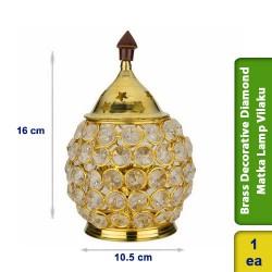 Brass Decorative Diamond Matka Lamp Vilaku