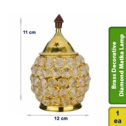 Brass Decorative Diamond Matka Lamp Vilaku Big