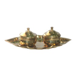 Brass Kumkum Twin Box 2