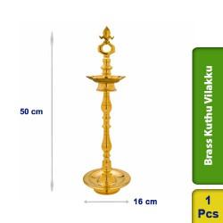 Brass Kuthu Vilakku Traditional Ornamental Tall Puja Lamp 50cm M103