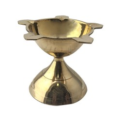 Brass Panjamugi Diya Lamp Small