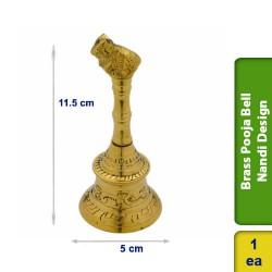 Brass Pooja Bell Nandi Design