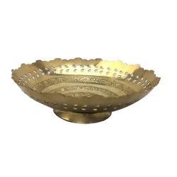 Brass Pooja Fruits Bowl
