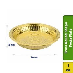 Brass Round Shape Pooja Plate 30cm
