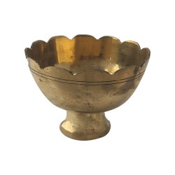 Brass Sandal Powder Kum kum Bowl Small