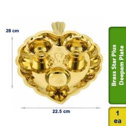 Brass Star Plus Deepam Plate Big
