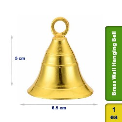 Brass Wall Hanging Bell for Home Temple Living Room