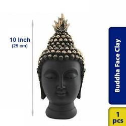 Buddha Face Earthen Clay 10 Inch