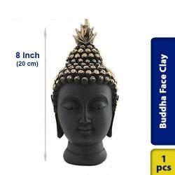 Buddha Face Earthen Clay 8 Inch