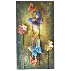 Butterfly Flower Pad Wall Hanging, 11 X 19 Inch