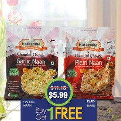Buy1Get1 FREE Garlic Plain Naan