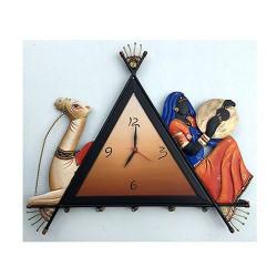 Camel Lady Wall Clock, 16 X 14 Inch