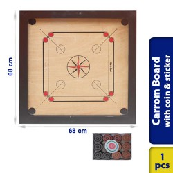 Carrom Board Super Matte Wood Finish Medium