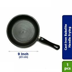 Cast Iron Bakelite Handle Frying Pan Pre Seasoned