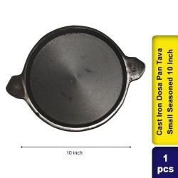 Cast Iron Dosa Pan Tava Small Semi Seasoned 10 Inch