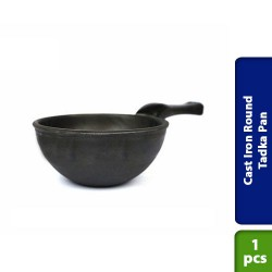Cast Iron Round Tadka Pan Pre Seasoned