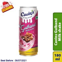 Cavins Gulkand Milk Shake Soft Drinks 180ml Clearance Sale