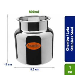 Chembu / Pot / Lota Stainless Steel