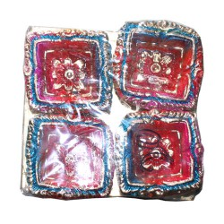 Clay Diya Colour M10 Set of 4