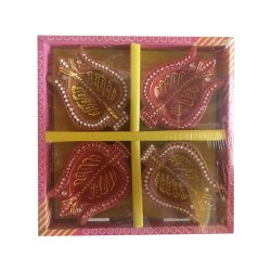 Clay Diya Colour M3 Set of 4